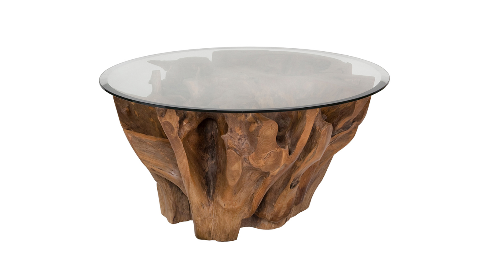Natura Round Root Coffee Table Condo Size